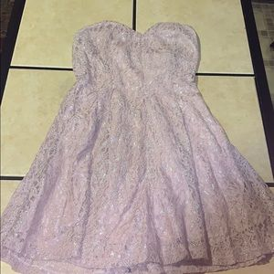 Charlotte Russe Metallic lace strapless dress